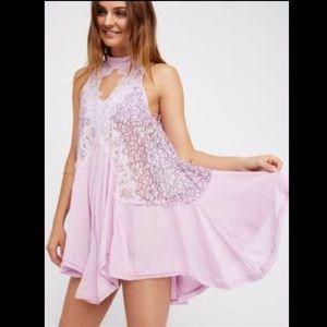 Free People Tell Tale Heart Sleeveless Lace Tunic